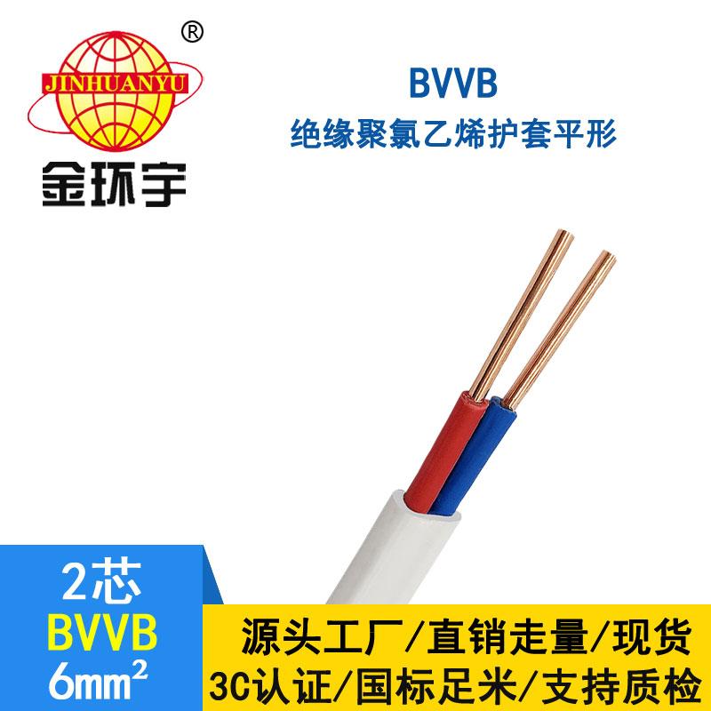 金环宇BVVB2*6平方电线