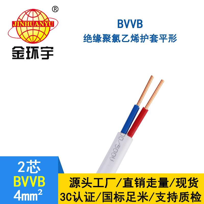 金环宇BVVB2*4平方电线