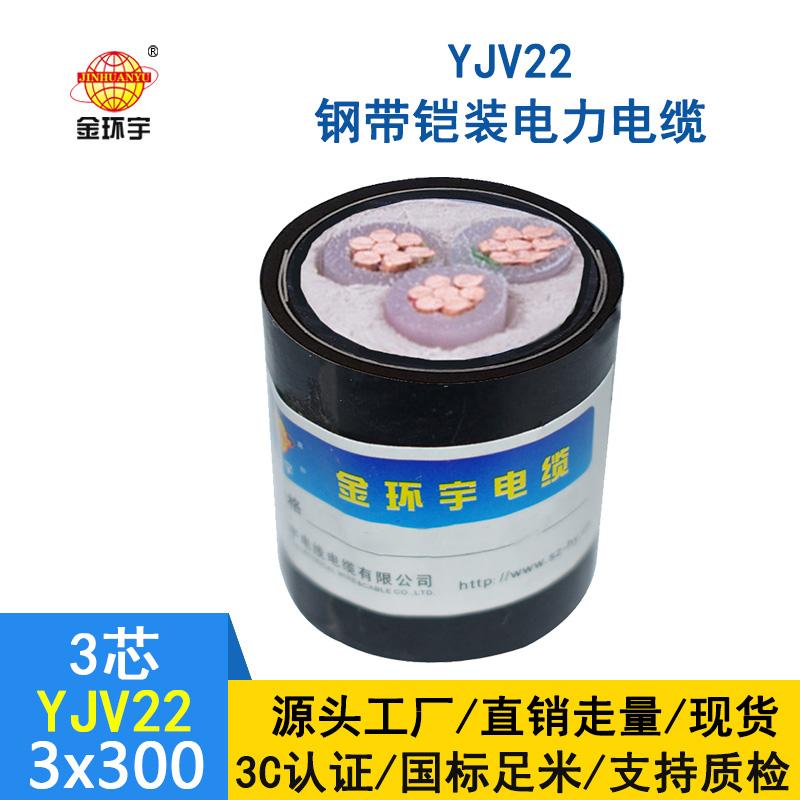 金环宇 国标YJV22 3*300平方钢带铠装电缆