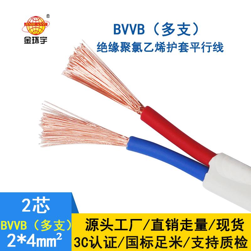 金环宇电线电缆 BVVB 2*