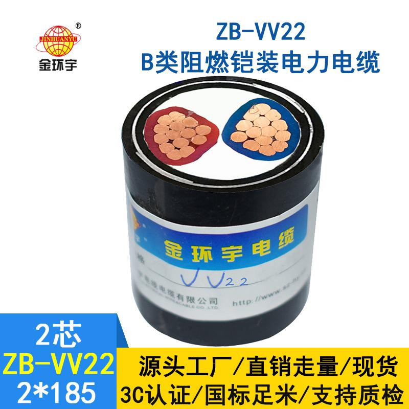 金环宇电缆 ZB-VV22-2X185平方 b级阻燃铠装VV22电缆