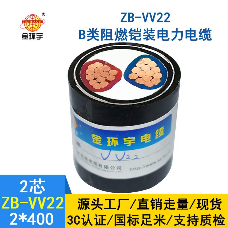 金环宇电线 铠装电缆ZB-VV22-2X400平方阻燃b类vv22电缆