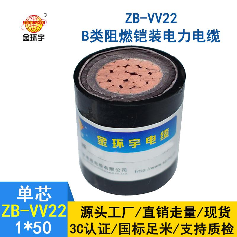 金环宇电缆 阻燃铠装低压电缆ZB-VV22-50平方 电缆vv22