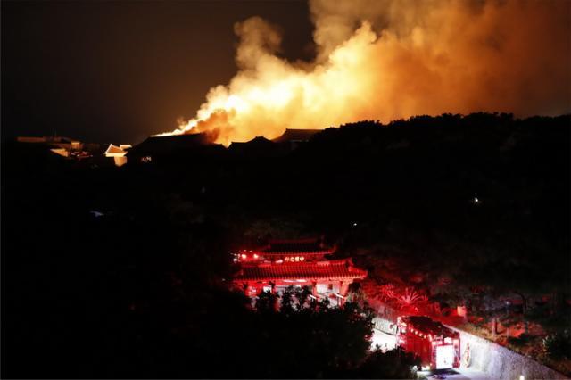 电线短路引发大火 世界遗产日本首里城多处烧毁